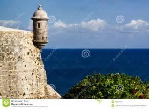 colonial plans san juan el morro fortress sentry turret stock photos image 20357103