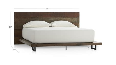 Crate And Barrel Atwood Bed by Atwood Reclaimed Wood Bed Crate And Barrel