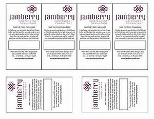 Jamberry 7 day challenge template samples www for Jamberry sample card template
