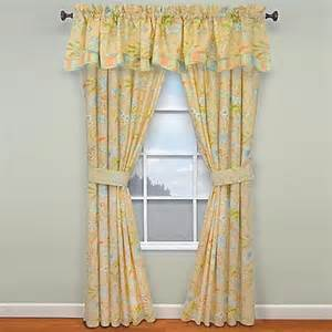 waverly 174 cape window curtain panels and valance in coral bed bath beyond