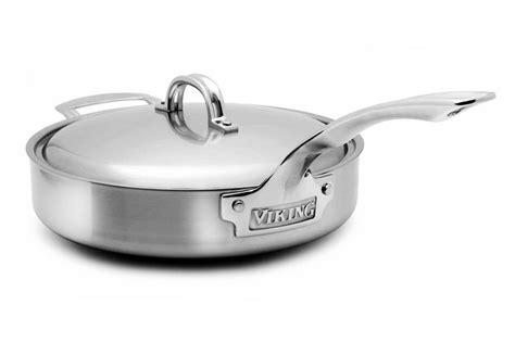 viking  stainless steel saute pan  quart cutlery