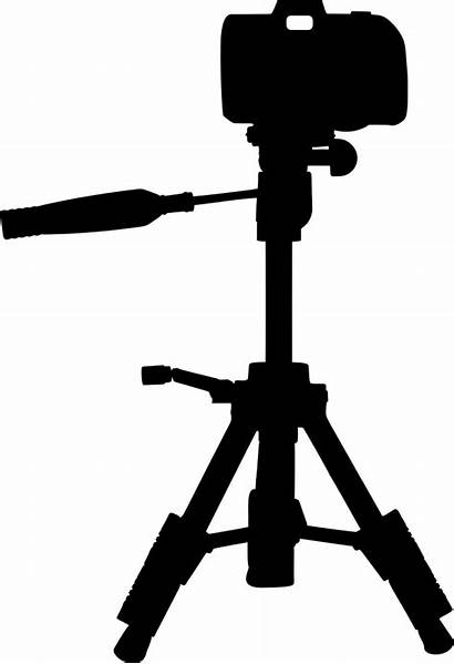 Camera Silhouette Tripod Clip Extended Svg Onlinelabels