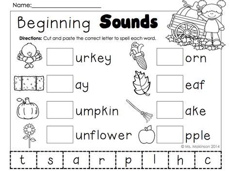 november printables kindergarten literacy  math