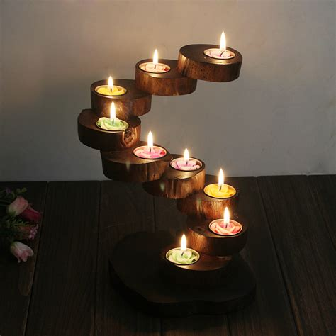 Wooden Table Number Stands by Log Candle Holder Promotion Shop For Promotional Log