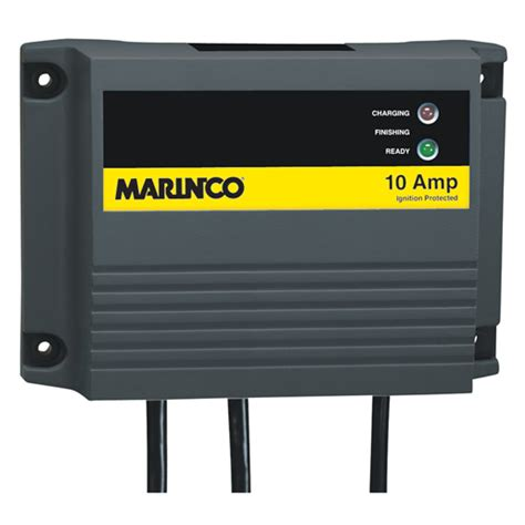 Marine Battery Charger 10 by Marinco Charge Pro Waterproof Battery Charger 10