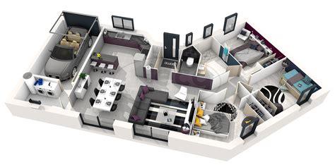 plan de chambre 3d plan maison plain pied 3 chambres 3d maison moderne