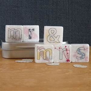 mr and mrs decorative mini letter tiles by With decorative letter tiles