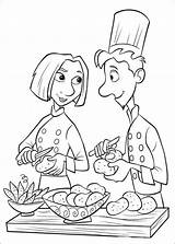 Coloring Pages Chefs Master Disney Cartoon sketch template