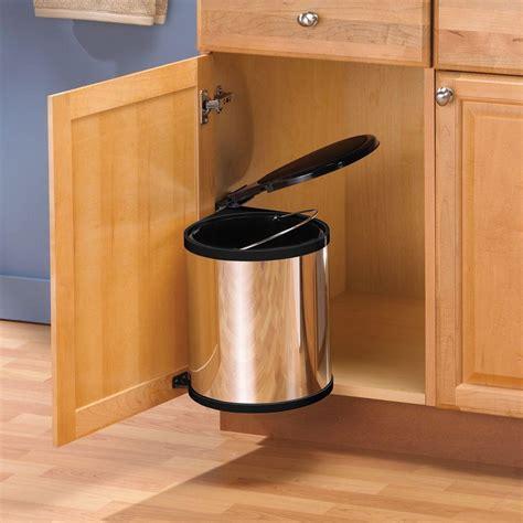 kitchen sink in cabinet trash can lid waste