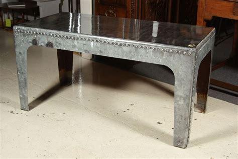 galvanized steel coffee table industrial water tank quot coffee quot table galvanized metal