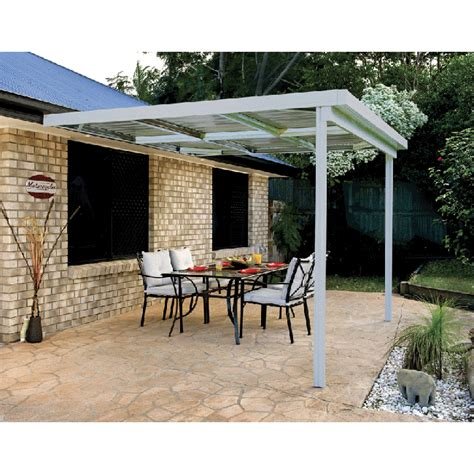 absco patio cover awning 3m x 3m zincalume cheap sheds