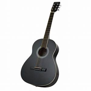 New three quarter size acoustic guitar black with steel