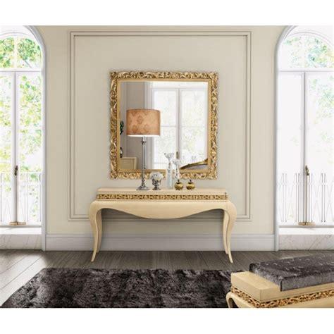 canapé cuir design italien console baroque de luxe ivoire et miroir meuble d 39 entrée