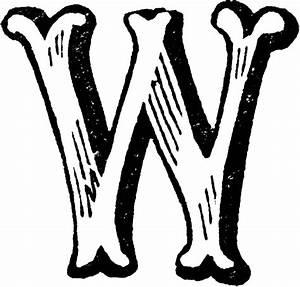 decorative letter w clipart etc With w letter art