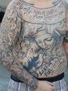 Chest And Stomach Tattoo