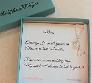 mother of the bride jewelry to mom from bride mother of the With mom gifts for wedding