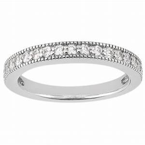 shared prong diamond wedding band with milgrain edge in With milgrain edge wedding ring