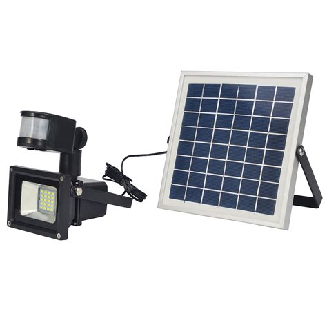 10W Outdoor Solar Powered LED Security Floodlight Lamp PIR