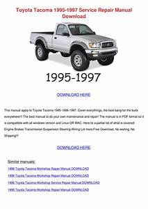 Toyota Tacoma 1995 1997 Service Repair Manual By