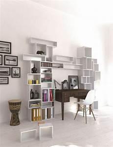Schreibtisch Für Wohnzimmer : regalsystem wei wohnzimmer einrichtung kreative wand gestaltung deko pinterest kreative ~ Sanjose-hotels-ca.com Haus und Dekorationen