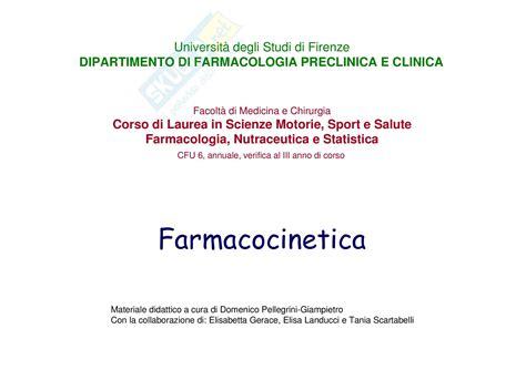 dispense di farmacologia nozioni farmacocinetica dispensa di chimica farmaceutica