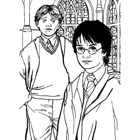 disegni harry potter personaggi disegno di rupert grint ed harry potter da colorare per