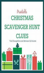 Printable Calenders Printable Christmas Scavenger Hunt Clues 2016 Edition
