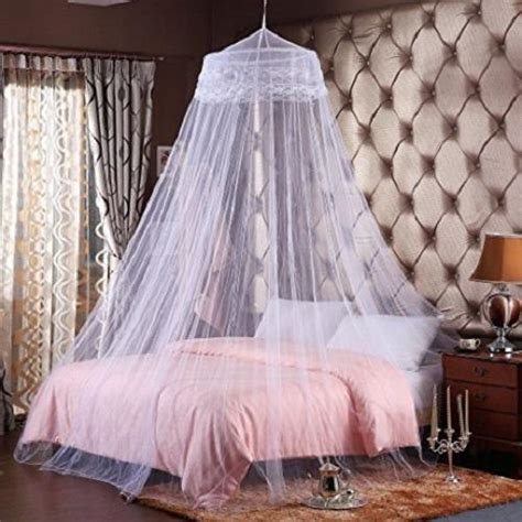 polyester abstract canopy mosquito net rs  piece sai