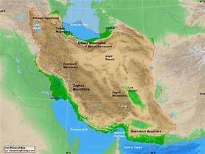 Iran Physical Map - A Learning Family
