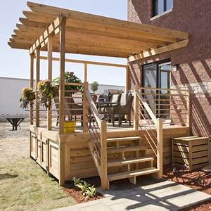 build a one level deck 1 rona With modele escalier exterieur terrasse 14 escalier escamotable