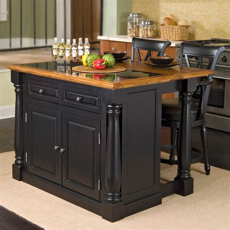 Small Kitchen Islands For Sale Home Styles Monarch Slide Out Leg Kitchen Island With Granite Top Kitchen Islands And Carts At