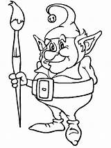 Elf Coloring Pages Elves Christmas Print Santa sketch template
