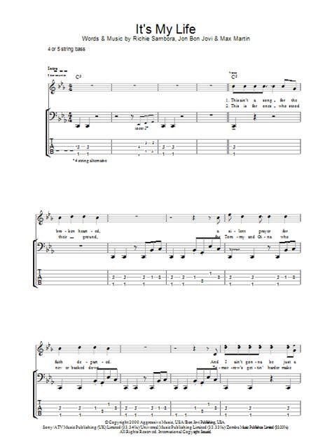 It's My Life By Bon Jovi  Bass Tab  Guitar Instructor