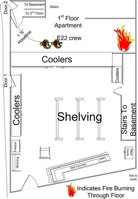 basement apartment floor plans fighter fatality investigation report f2009 23 cdc niosh