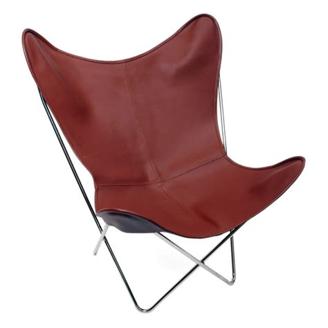 tainted leather butterfly chair calma chicha