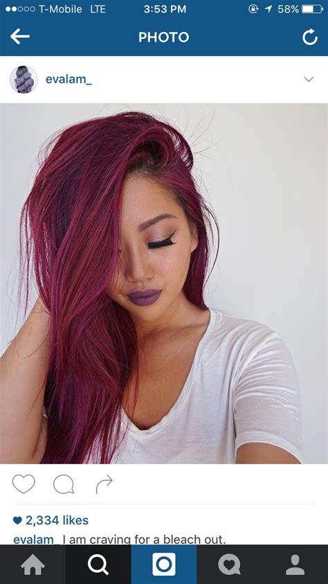 Best 25 Magenta Red Hair Ideas On Pinterest Red Violet