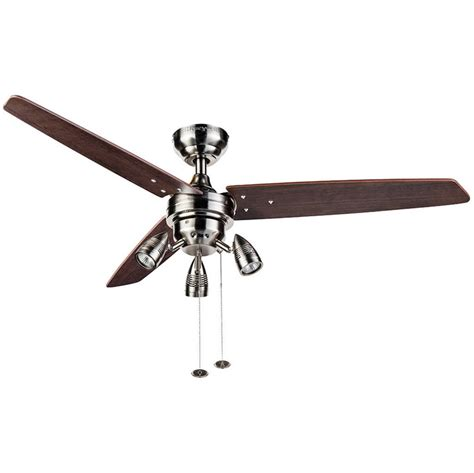 home depot ceiling fans without lights ceiling outstanding nickel ceiling fan 44 brushed nickel