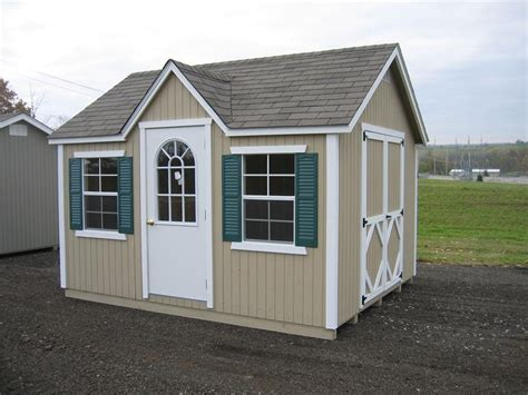 amish wood classic wood cottage shed  dutchcrafters amish