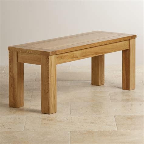 Small Bench In Natural Solid Oak  Oak Furniture Land