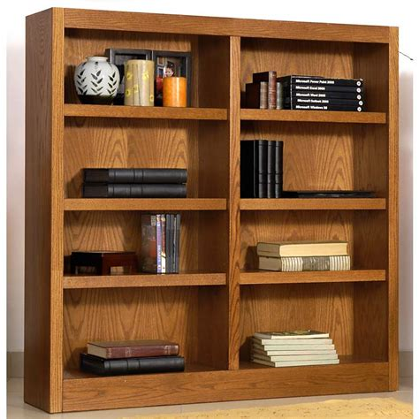 48 High Bookcase by Grundy 48 Quot High Oak Finish Wide Bookcase