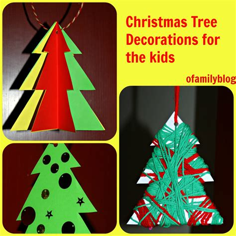 christmas tree activities for home made christmas tree decorations for the 8107