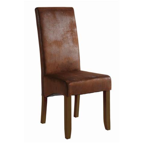 chaises pour salle à manger lot de 2 chaises sagua marron pour salle à manger achat