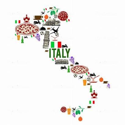 Italia Silhouette Clipart Grenzstein Landkarte Italy Clip