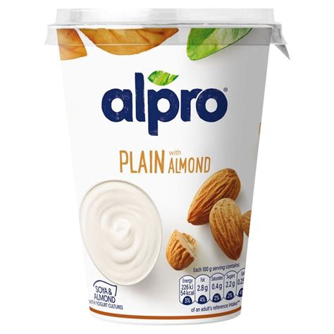 alpro big pot almond yoghurt alternative 500g from ocado