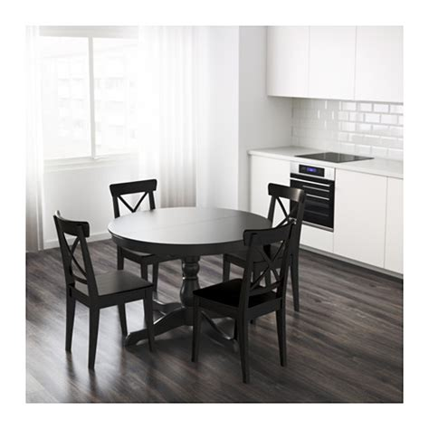 ikea round table with leaf ingatorp extendable table ikea