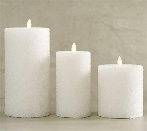 pottery barn candles premium flicker flameless sugar pillar candle white