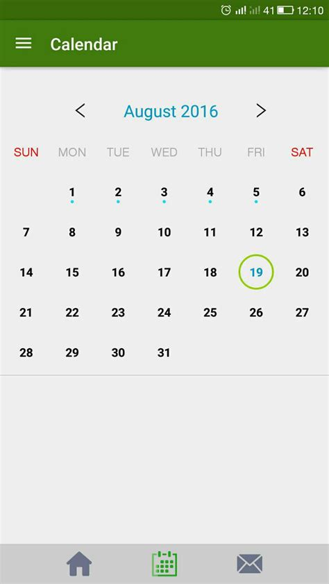 android calendar android custom calendar with month view coding question