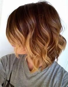 Ombré Hair Marron Caramel : carr plongeant ombr hair les plus jolis carr s ~ Farleysfitness.com Idées de Décoration