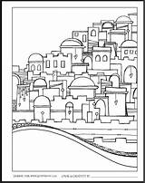 Jerusalem Coloring Jewish Zenspirations Yerushalayim Crafts Joanne Fink Bible Yom Adult Israel Launch ירושלים Drawing Celebration Skyline Heaven Kleurplaten Rules sketch template