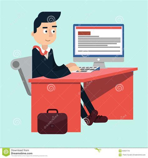 bureau homme d affaire homme d 39 affaires au bureau sur le tableau de travail